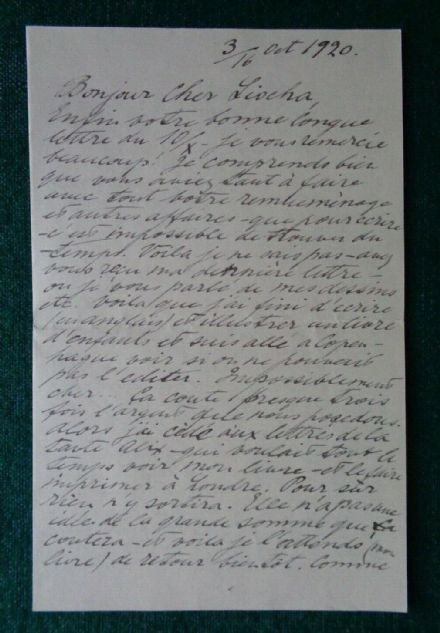 Antique Signed Letter Grand Duchess Olga Romanov Imperial Russian Thormeyer 1920 Tolstoy